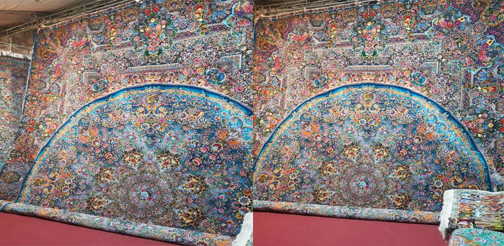 فرش دستباف ابریشم مرینوس شش متری