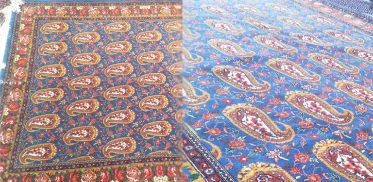فرش دستباف چله ابریشم سنندج اینترنتی
