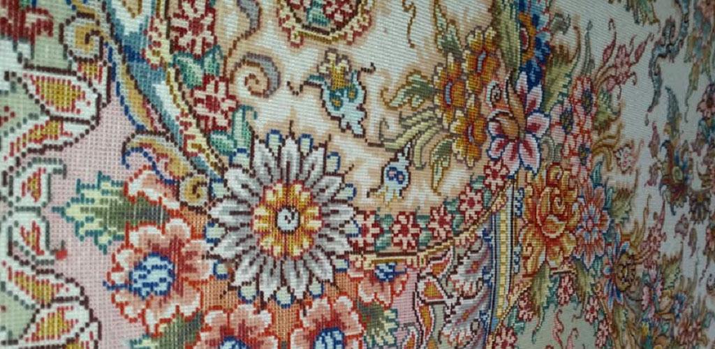 فرش دستبافت نفیس اصیل ایرانی ابریشم